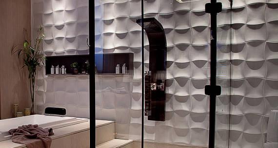 dica de revestimento 3D  para usar no banheiro