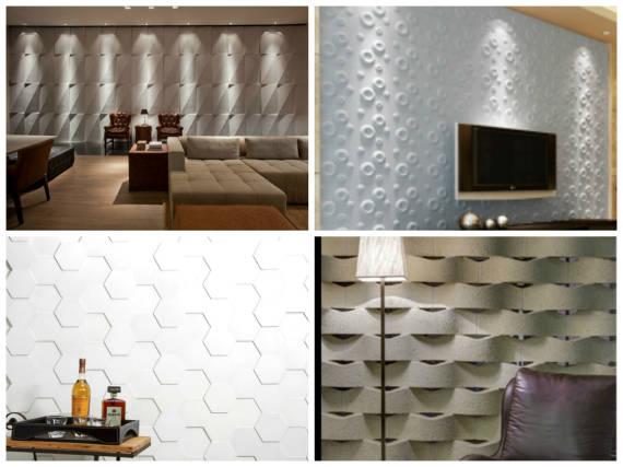 foto com vários modelos de de textura 3D