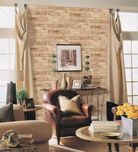 papel de parede de tijolo a vista