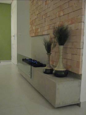 sala com plaquetas de tijolos