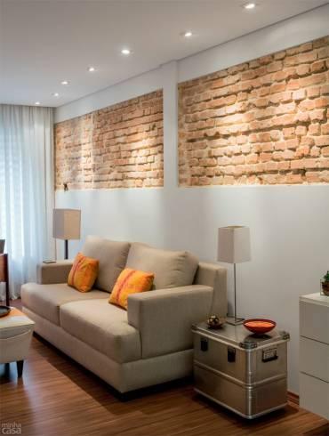 tijolo a vista como detalhe na decoração