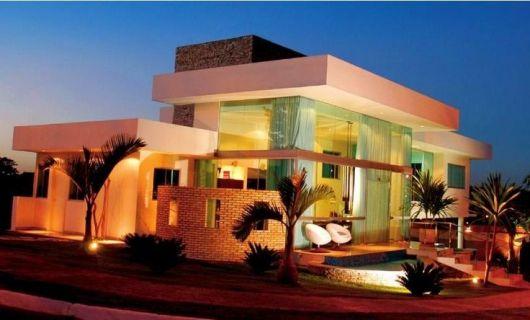 40 casas com telhado embutido dicas e fotos for Casa moderna 4 parte 3