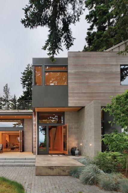 40 Casas Com Telhado Embutido Dicas E Fotos