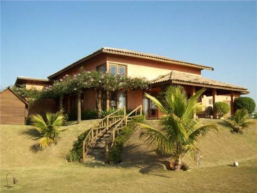casa rústica de tijolo