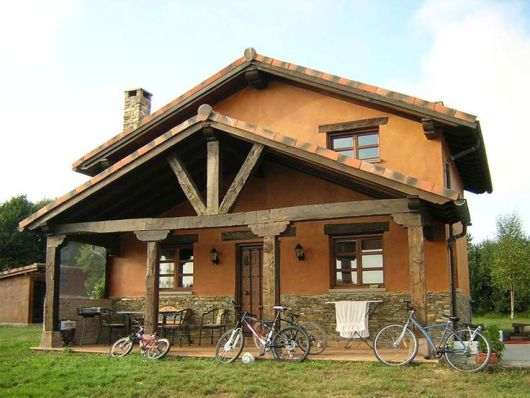Casas r sticas 50 modelos e fotos imperd veis - Casas estilo rustico ...