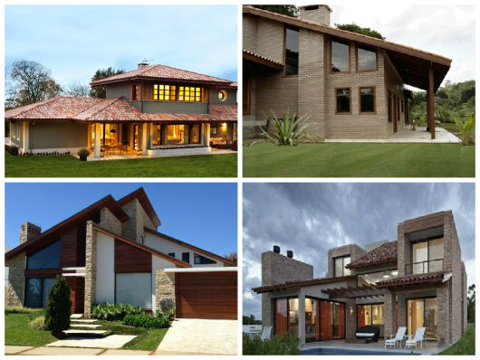 awesome ideias para casa no campo with casas rusticas modernas - Fachadas De Casas De Campo