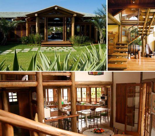 casas rústicas de eucalipto tratado