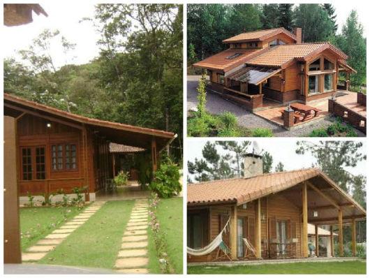 casas rústicas com madeira pré-moldada