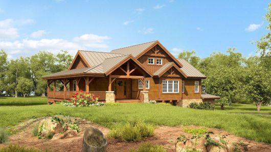 casa de campo rústica de madeira