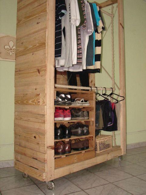 modelo closet madeira