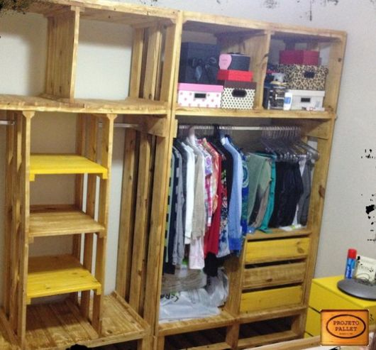 closet madeira pallet