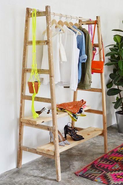 closet improvisado escada