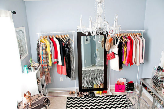 decoração de closet simples