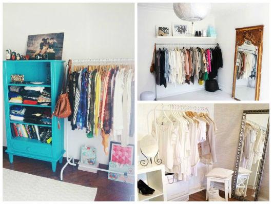 ideias closet clean