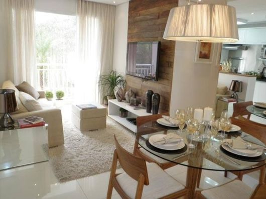 decoracao de apartamentos pequenos sala de jantar : decoracao de apartamentos pequenos sala de jantar:painel de madeira de demolição