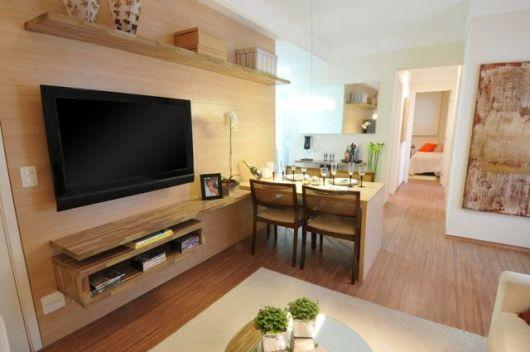 Decora o de apartamento pequeno 60 dicas for Como organizar un apartamento pequeno