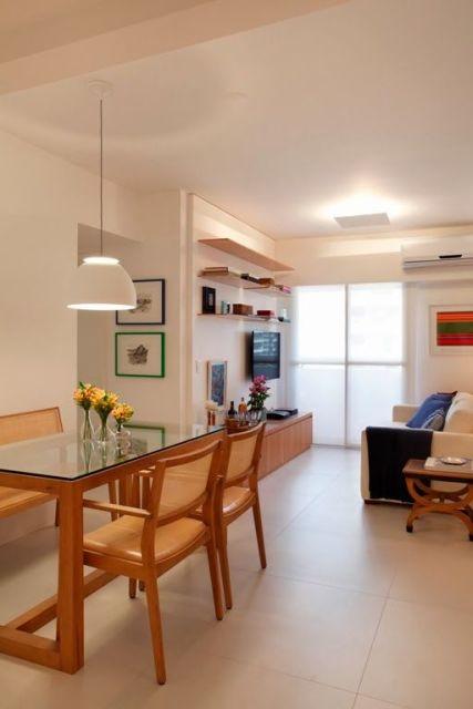 Decora o de apartamento pequeno 60 dicas for Sala comedor de casas pequenas