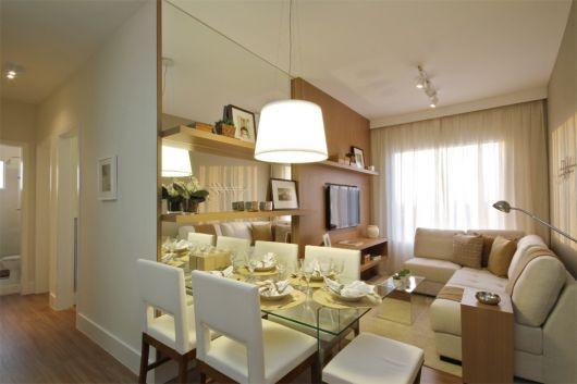 Sala De Jantar Pequena O Que Fazer ~ dicas para sala de tv e jantar pequena