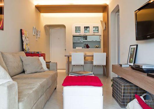 decoracao de apartamentos pequenos simples : decoracao de apartamentos pequenos simples:suporte articulado para tv é ideal para apartamentos