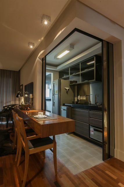 Decora o de apartamento pequeno 60 dicas for Puerta corrediza externa