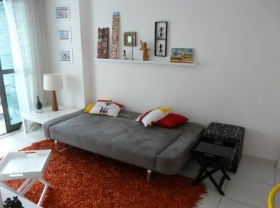sofa cama na decoraçã