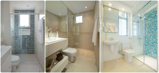 DECORAÇÃO DE APARTAMENTO PEQUENO 60 Dicas! -> Banheiro Planejado Pequeno Com Pastilhas