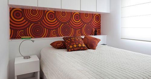 parede de tecido quarto