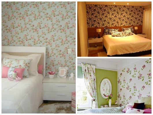 parede tecido floral