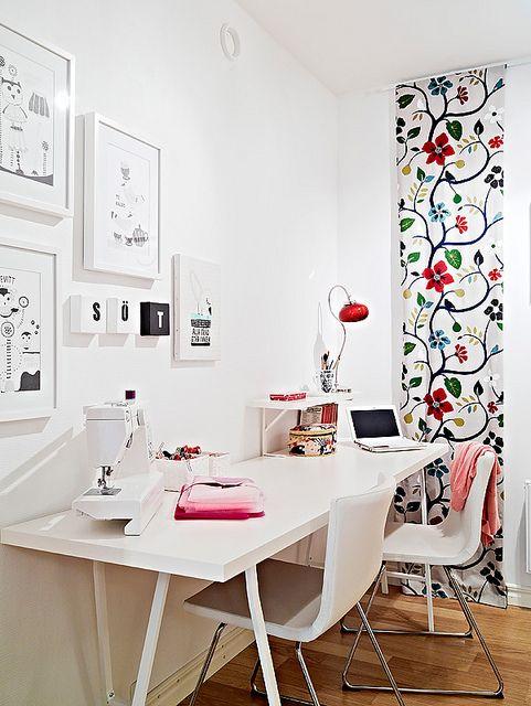 decoração home office branco