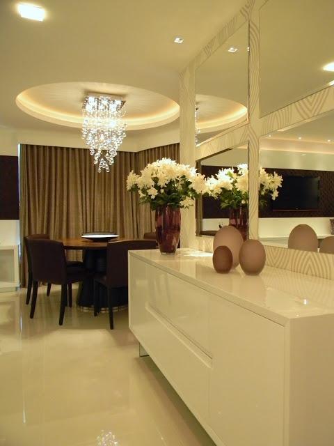 Buffet Para Sala De Jantar Pequeno ~ Dicas e modelos de espelhos para sala de jantar