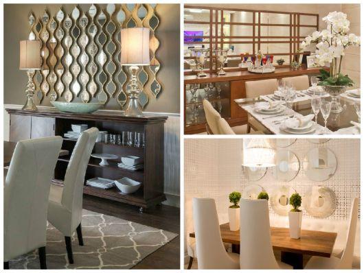 Espelho Para Sala De Jantar Grande ~ Uma maneira de evitar o cansaço visual com uma peça grande é usar o