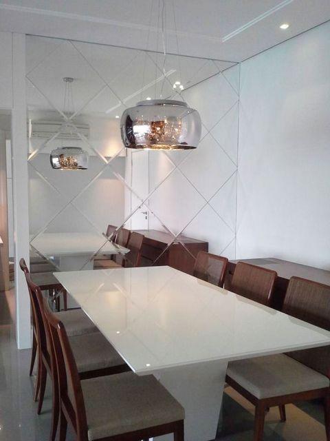 Vidro Na Sala De Jantar ~  traz ares de modernidade a sala de jantar, dão mais realce a parede