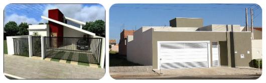 fachadas de casas simples e modernas com portão