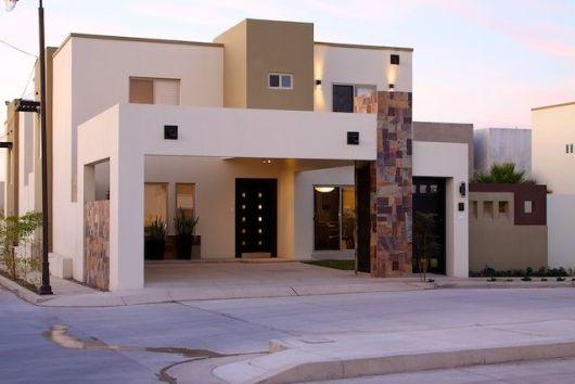 Fachadas de casas simples 50 ideias dicas e projetos - Fachadas con azulejo ...