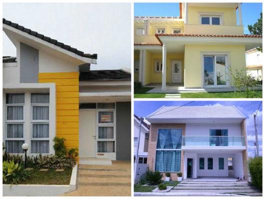 fachadas de casas e modelos de telhados