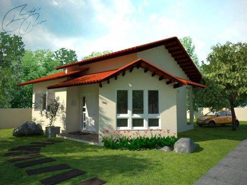 fachada simples casa térrea