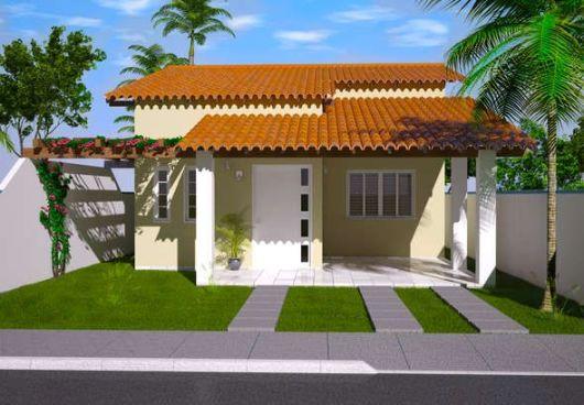 Fachadas de casas simples 50 ideias dicas e projetos for Diseno casas minimalistas economicas