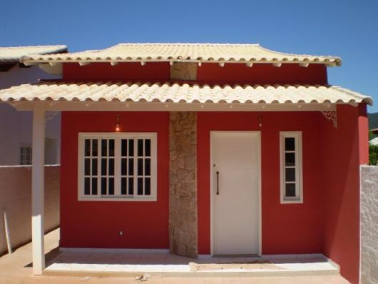Fachadas de casas simples 50 dicas e fotos for Frentes de casas pintadas
