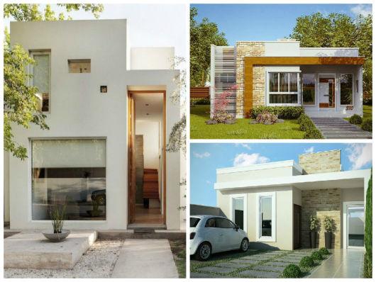 Fachadas de casas simples 50 dicas e fotos for Casas pequenas modernas