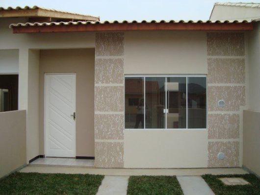 Fachadas de casas simples 50 dicas e fotos for Fachadas de piedra para casas pequenas