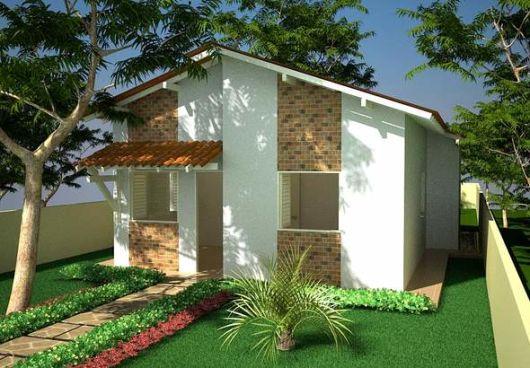 casa pequena com pedras decorativas