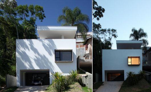 fachada de casa simples quadrada