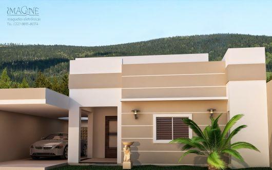 Fachadas de casas simples 50 ideias dicas e projetos for Fotos de piscinas modernas en puerto rico