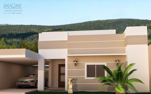 Fachadas de casas simples 50 ideias dicas e projetos - Pintar entrada piso ...