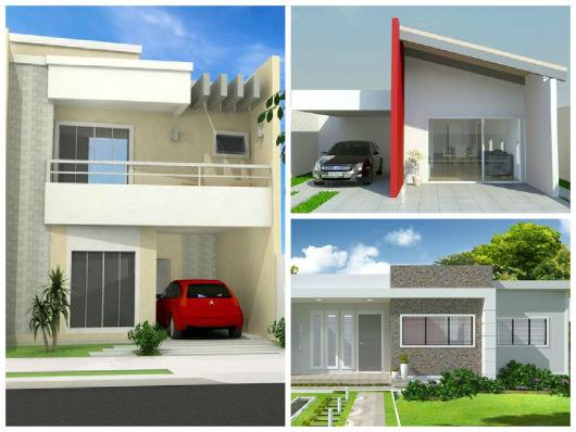 Fachadas de casas simples 50 ideias dicas e projetos for Modelos de fachadas modernas