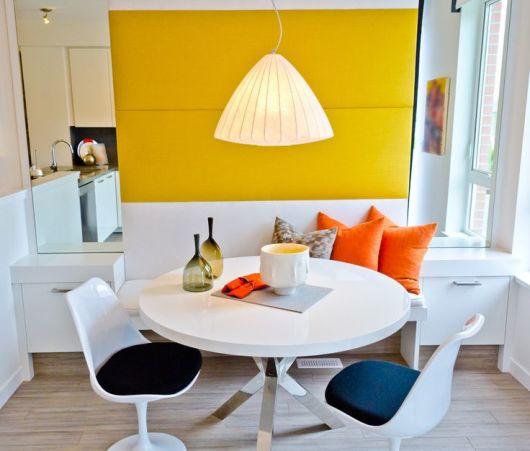 60 mesas de jantar modernas dicas e fotos for Mesas redondas modernas