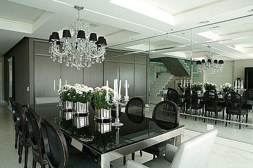 Sala De Jantar Com Tampo De Vidro ~ sala de jantar sofisticada