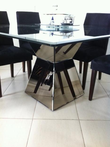 60 mesas de jantar modernas dicas e fotos for Mesas auxiliares para sala modernas