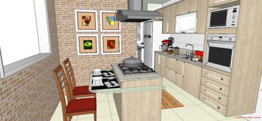 60 MODELOS DE COZINHAS Projetos e Fotos! # Ilha Cozinha Tijolo