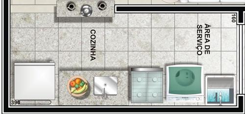 projeto cozinha pequena com lavanderia